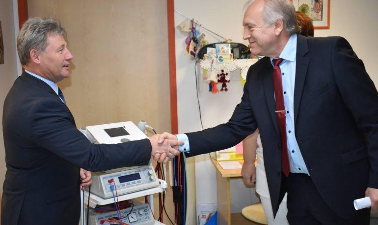 Amed-Tech készülékek az ajkai kórház fizioterápia részlegén